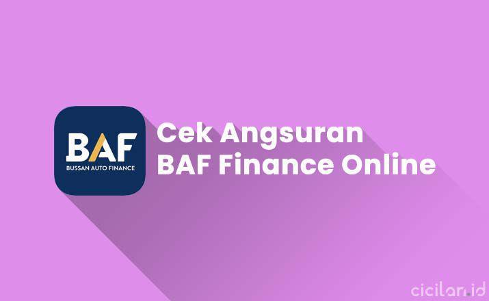 Cek Angsuran BAF Finance Online