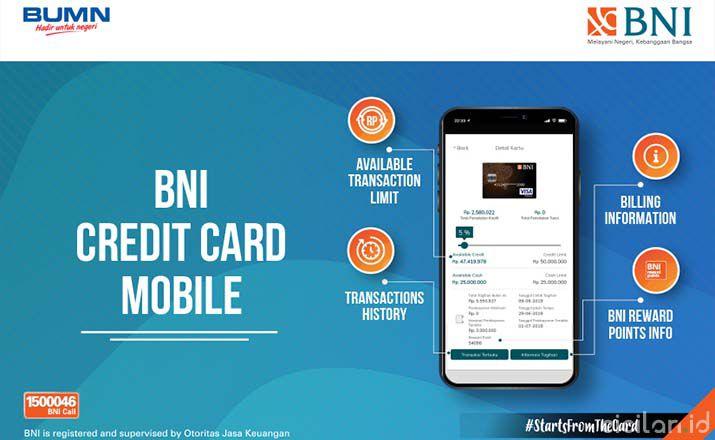 Biaya Tarik Tunai Kartu Kredit BNI Terbaru