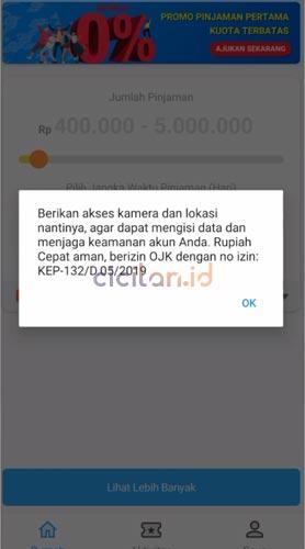 Pinjaman Online Rupiah Cepat