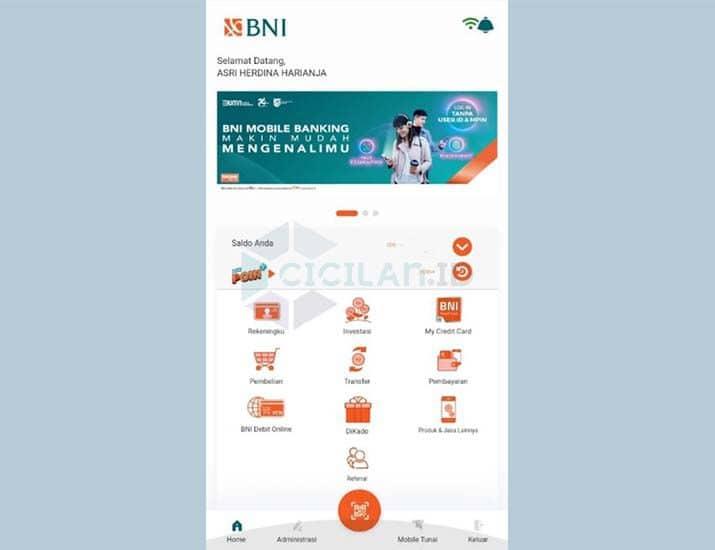 Cara Mengecek Saldo ATM BNI Lewat HP Android