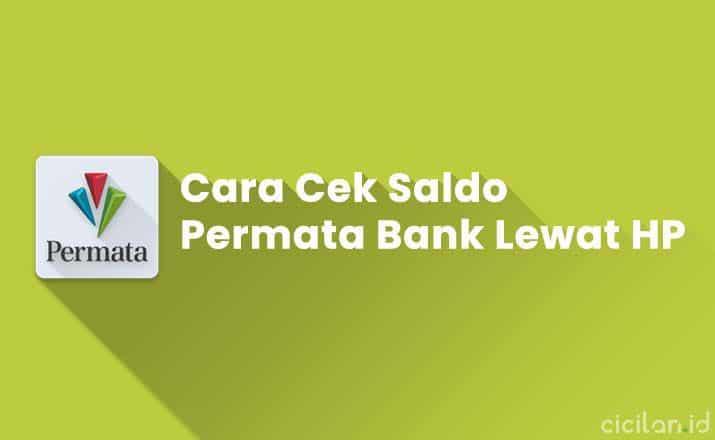 Cara Cek Saldo Permata Bank Lewat HP