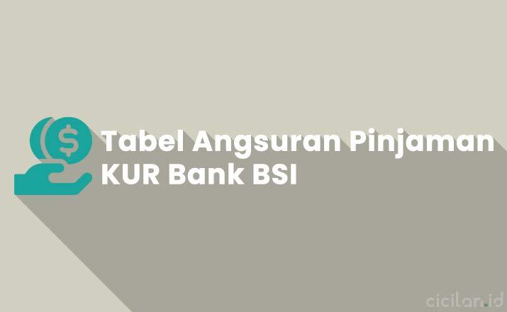 Tabel Angsuran KUR Bank BRI