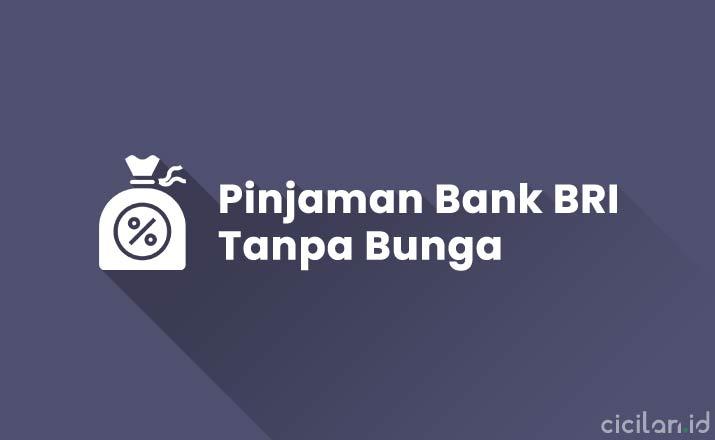 Pinjaman Bank BRI Tanpa Bunga