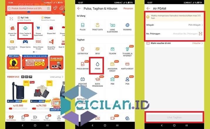 Cek Tagihan PDAM Lewat HP Android